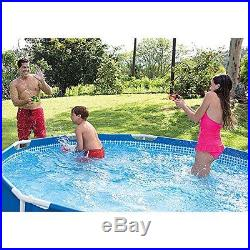 Intex 12ft X 30 in Metal Frame Swimming Pool Set With Filter Pump