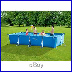 Intex 14.75ft x 33In Rectangular Frame Outdoor Above Ground Pool Fast Shipping