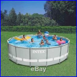 Intex 14'x42 Ultra Frame Round Pool Swimming Pool Set Filter Ladder Cover New