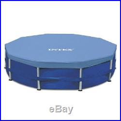 Intex 15' x 48 Metal Frame Above Ground Swimming Pool Holds 4,400 Gallons Water