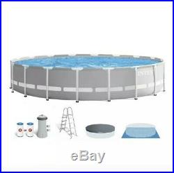 Intex 15ft x 48in Prism Frame Above Ground Pool Set & Pump IN HAND FREE SHIP
