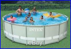 Intex 16ftx48in Ultra Frame Above Ground Swimming Pool Set Sand Filter Pump New