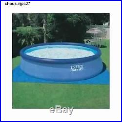Intex 18' x 48 Easy Set Above Ground Swimming Pool with Filter Pump & Cover Blue