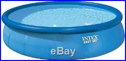 Intex 18' x 48 Easy Set Swimming Pool, Round Above ground Blue 1500 Gal Filter