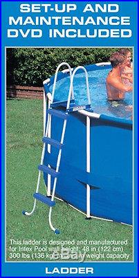 Intex 18' x 48 Metal Frame Swimming Pool Deluxe Set with 1500 GFCI Pump 28251EH