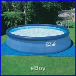 Intex 18 x 4 foot Easy Set Swimming Pool 1500 GPH pump above ground ladder cover