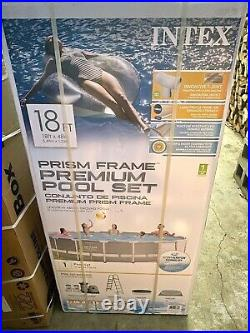 Intex 18ft x 48in Prism Frame Swimming Pool Set with Pump BRAND NEW