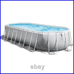 Intex 20ft x 10' x 48 Prism Frame Oval Swimming Pool Set Kit with Pump & Canopy