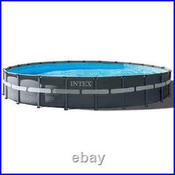 Intex 26333EH Ultra XTR Frame Deluxe Round Above Ground Pool 20 ft fully equips