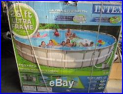 Intex 26 FT x 52IN DEEP Ultra Frame Swimming Pool WithFILTER PUMP
