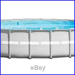 Intex 26ft x 52in Ultra Frame Above Ground Pool Set with Pump & Ladder (Used)