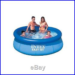 Intex 8' x 30 Easy Set Inflatable Above Ground Swimming Pool Backyard Oasis New