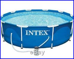 Intex Above Ground Metal Frame Swimming Pool Outdoor Kids Family Summer Pools