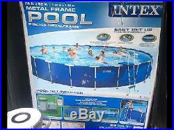 Intex Above Ground Metal Frame Swimming Pool-UPGRADED PUMP, Ladder, and Cover