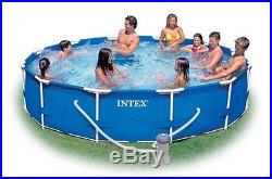 Intex Above Ground Round 12'x30 Pool Set Backyard X Swimming with Pump Filtration