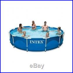 Intex Above Ground Swimming Easy Set Pool 12ft x 30in Metal Frame, Filter Pump
