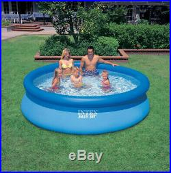 Intex Easy Set 10ft x 30ft x 30in Above Ground Inflatable Round Swimming Pool