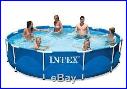 Intex Pool 12ft X 30in Metal Frame Swimming Above Summer Fun Family Outdoor Kids
