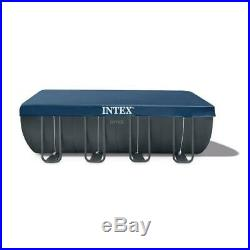 Intex Ultra 18 ft. X 9 ft. X 52 in. XTR Rectangular Frame Swimming Pool Set with