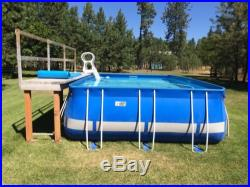 KD ROYALTY SERIES 10' X 16' RECTANGULAR ABOVE GROUND POOL with PUMP/FILTER/CLEANER