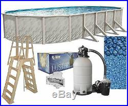 Lake Effect Meadows 15' x 24' x 52 Oval Above Ground Swimming Pool Complete Kit
