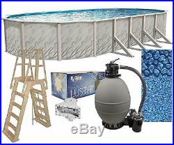 Lake Effect Meadows 18' x 33' x 52 Oval Above Ground Swimming Pool Complete Kit