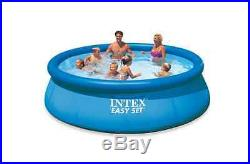 Large Above Ground Swimming Pool 12' x 30in Round Set Filter Pump INTEX Inflate