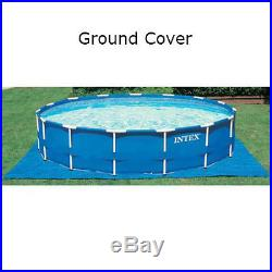 Metal Frame Swimming Pool Cover Water Filter Pump 15' x 48 Above Ground Round