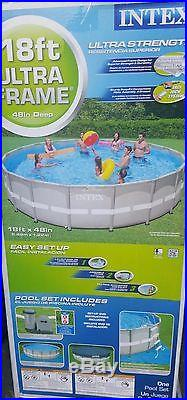 NEW 18'x48 Intex Metal Above Ground Swimming POOL + Filter + Pump PICK-UP ONLY