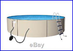 NEW ABOVE GROUND ROUND SWIMMING POOL PACKAGE with LADDER & PUMP 24' x 52
