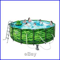 NEW Above Ground Swimming Pool Set Steel Pro Max Camo 14' x 48 Frame, Bestway
