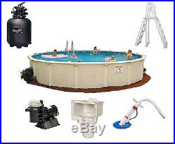 NEW HOFFINGER 12' X 52 STEEL ABOVE GROUND ROUND SWIMMING POOL COMPLETE PACKAGE