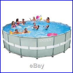NEW INTEX 18' x 52 Ultra Frame Swimming Pool Set with 1600 GPH Sand Filter Pump