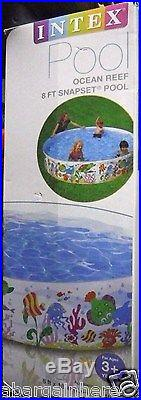 NEW Intex Easy Set-Up Above Ground Summer Swimming/Wade Pool 8 Ft x 18 Inches