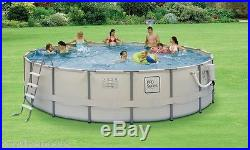 NEW SOFT SIDED ABOVE GROUND ROUND SWIMMING POOL PACKAGE with SKIMMER 15' x 48