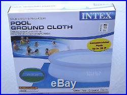 NEW SUMMER ESCAPES Metal Frame Pool 11' X 30w Filter Pump and Ground Cover