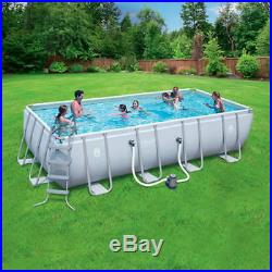 New Coleman Above Ground Swimming Pool Rectangular Steel Easy Assembly Rust Free