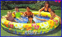 New Fast Set Inflatable Floral Outdoor Pool Swimming Pool 198cm x 36cm