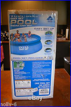 New Intex 12' x 36 Easy Set Pool Package with Filter Pump
