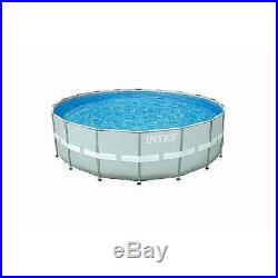 New Intex 16 ft x 48 in Ultra Frame Swimming Pool, filter pump, ladder, cover