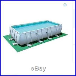 New Large Swimming Pool 18' x 9' x 48 Steel Frame Pump Stairs Above Ground Kit