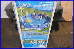 Pallet Summer Escapes 15 ft x 42 in Metal Framed Swimming Pool M-P20-1542-B