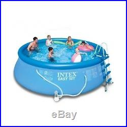 Pool Above Ground Intex Round Swimming 48'' Deep Filter Pump Inflating Easy Set