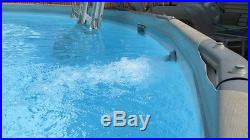 ProSeries Summer Escapes metal frame swimming pool 18 Feet Wide 48 Inches Tall