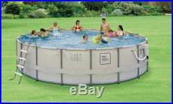 Proseries 15' Round 48 Deep Metal Frame Above Ground Swimming Pool