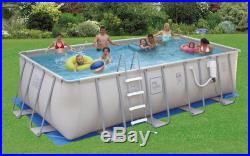 Proseries 9'X18' Rectangle 52 Deep Metal Frame Above Ground Swimming Pool