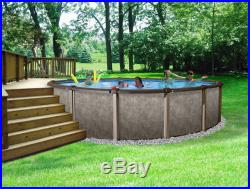 Riviera Metal Wall Above-Ground Swimming Pool 18' Round and 54'' Deep