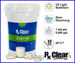 Rx Clear 3 Dissolving Stabilized Chlorine Swimming Pool Tablets (Choose Size)
