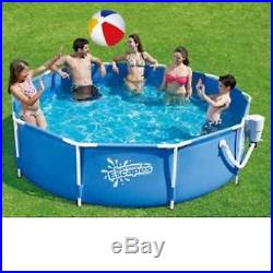 SUMMER ESCAPES ABOVE GROUND FAMILY SWIMMING POOL 10' X 30 METAL FRAME PUMP