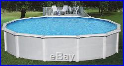Samoan 30' Round 52 Steel Above Ground Swimming Pool With 8 Toprail